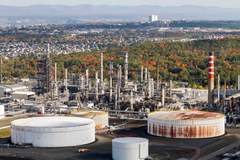 Vista aérea industrial foto de stock
