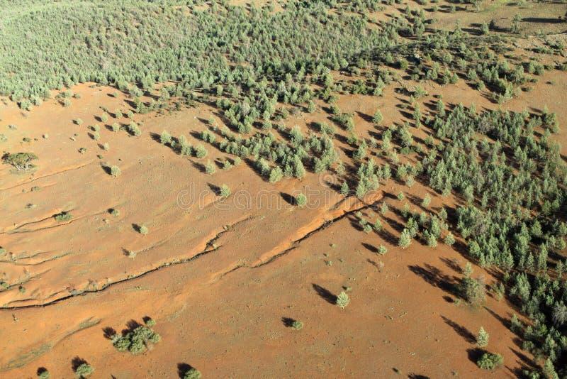 Vista aérea. Interior imagens de stock