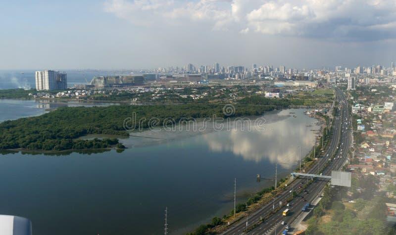Vista aérea, Manila imagem de stock