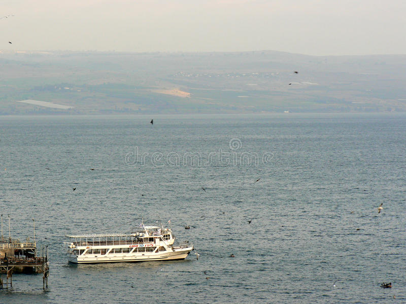Vista aérea - mar de Galilee foto de stock