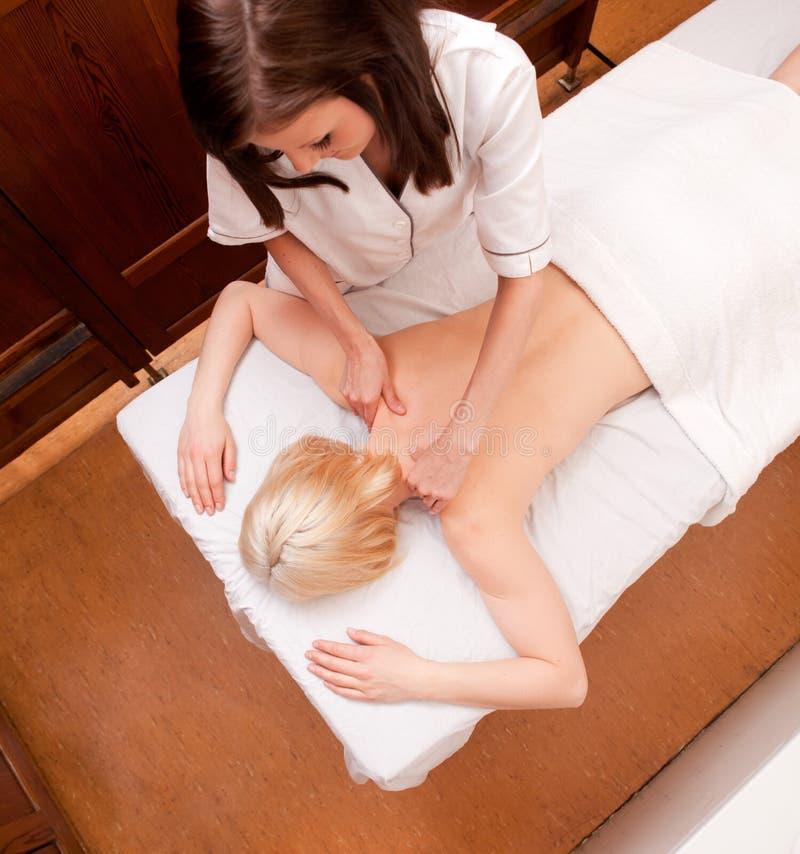 Vista aérea - massagem dos termas fotografia de stock royalty free