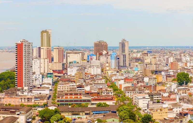 Vista aérea na cidade de Guayaquil, Equador fotos de stock