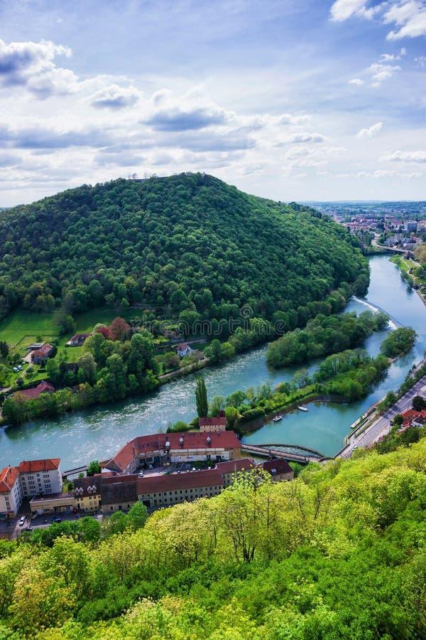 Vista aérea na região França de Besancon Bourgogne Franche Comte foto de stock royalty free