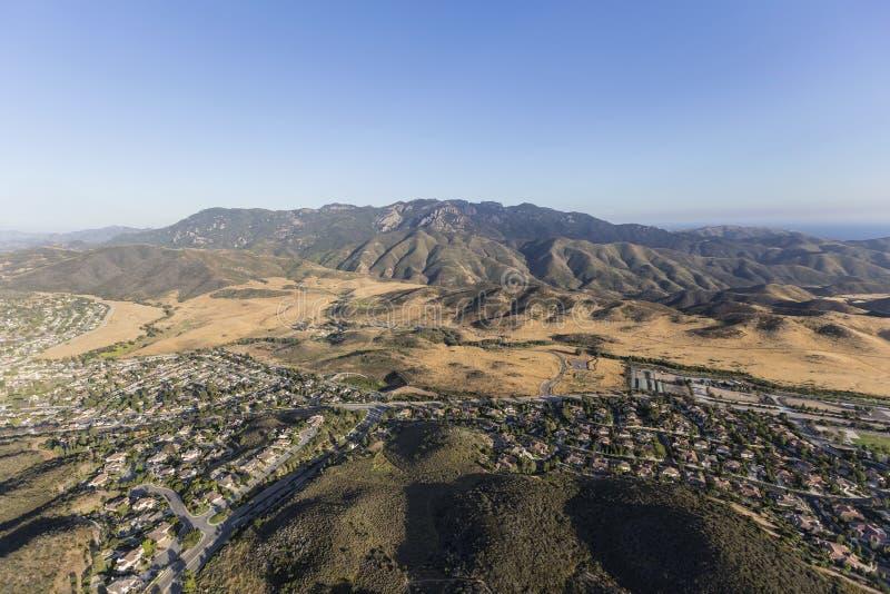 Vista aérea Newbury Park Califórnia foto de stock royalty free