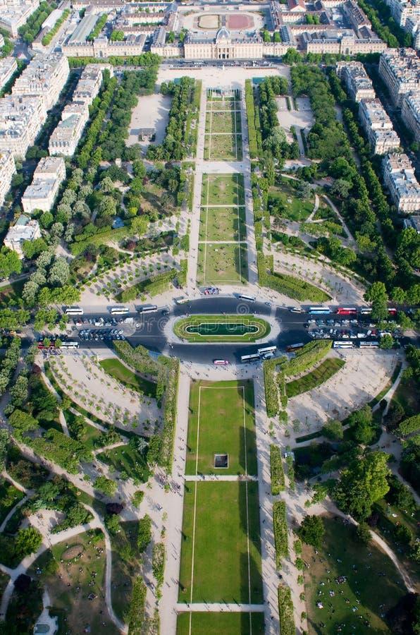 Vista aérea no Champ de Mars foto de stock royalty free