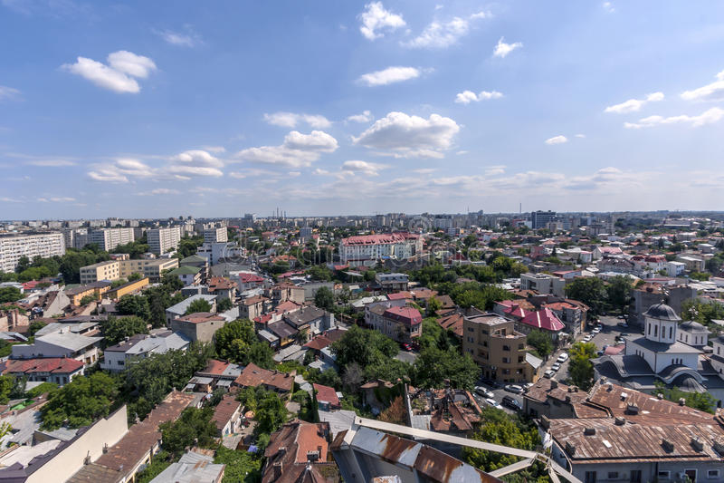 Vista aérea sobre Bucareste imagens de stock