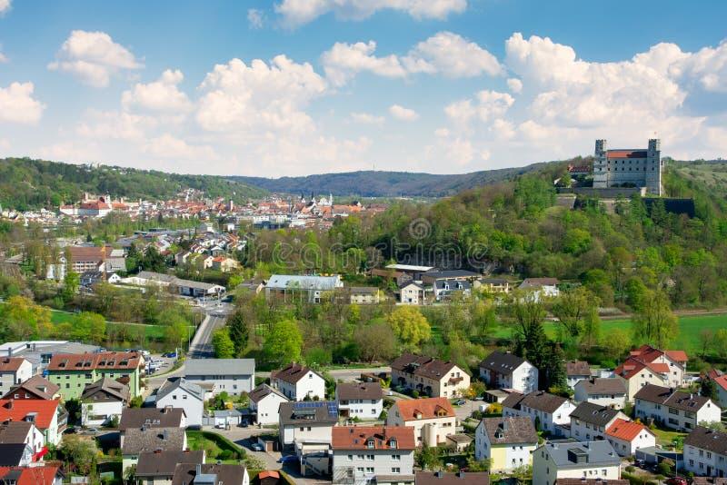 Vista aérea sobre a cidade de Eichstaett foto de stock