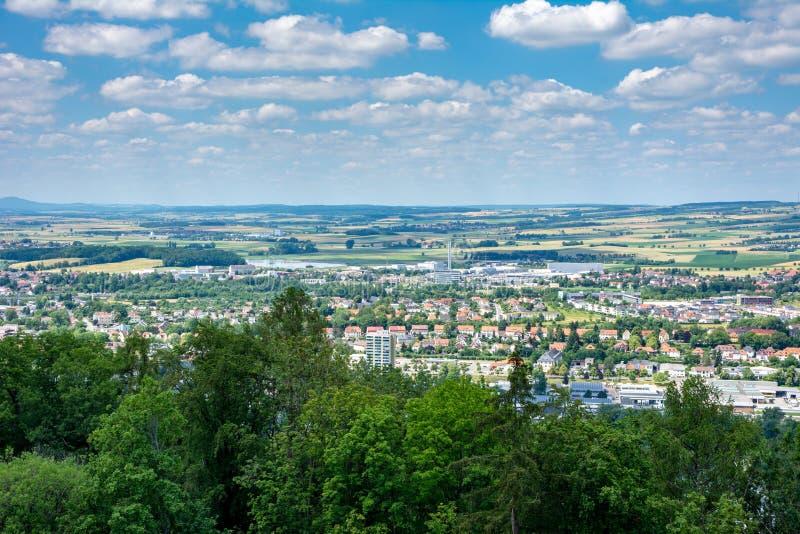 Vista aérea sobre Coburg fotografia de stock
