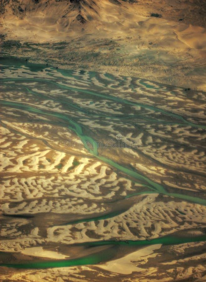 Vista aérea sobre Tibet imagens de stock