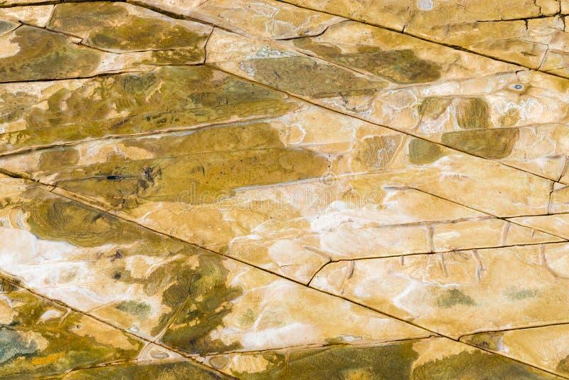 A vista aérea superior do arenito balança o teste padrão no litoral australiano imagem de stock
