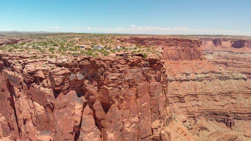 Vista aérea surpreendente do parque estadual do ponto do cavalo inoperante, Utá imagem de stock