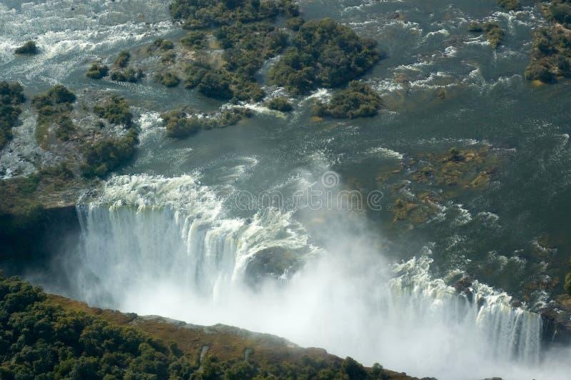 Vista aérea Victoria Falls imagem de stock