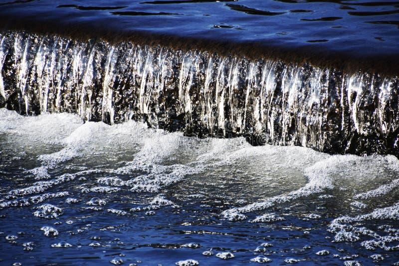 Vista abstracta de la superficie del agua fotografía de archivo libre de regalías