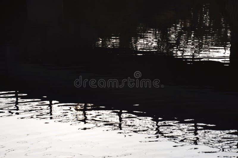 Vista abstracta de la superficie del agua imagen de archivo