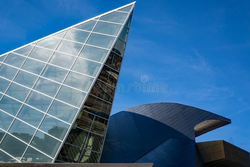 Vista abstrata do museu de arte de Taubman fotos de stock
