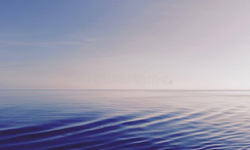 Vista abstrata do oceano e do céu imagens de stock royalty free