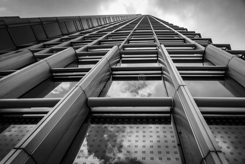 Vista acima em construções de Hong Kong fotos de stock royalty free