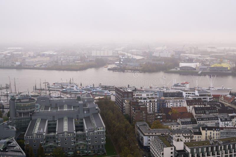 Vista aerea alla citt? di Amburgo germany fotografie stock libere da diritti