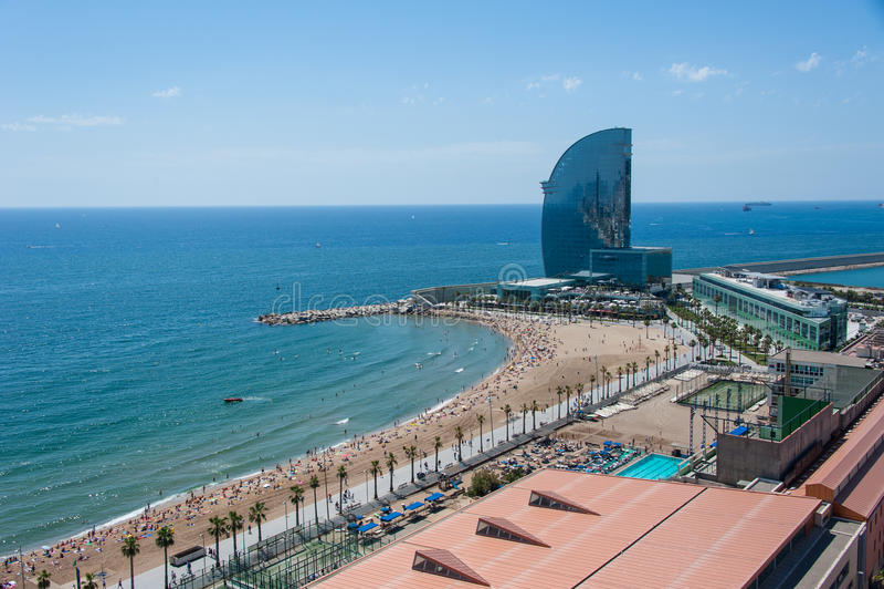 Vista aerea a Barcellona fotografia stock libera da diritti