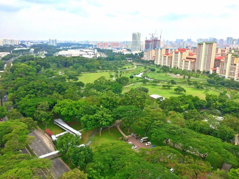 Vista aerea - Bishan, Singapore fotografia stock libera da diritti