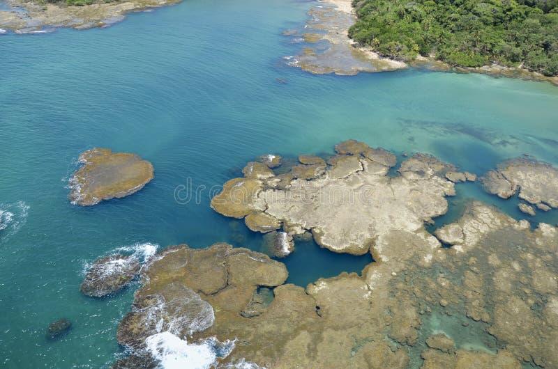 Vista aerea canale di Panama del lago Gatun, immagine stock