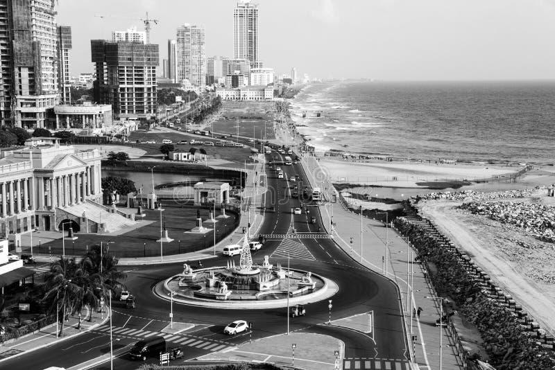 Vista aerea costruzioni moderne di Colombo, Sri Lanka immagini stock libere da diritti