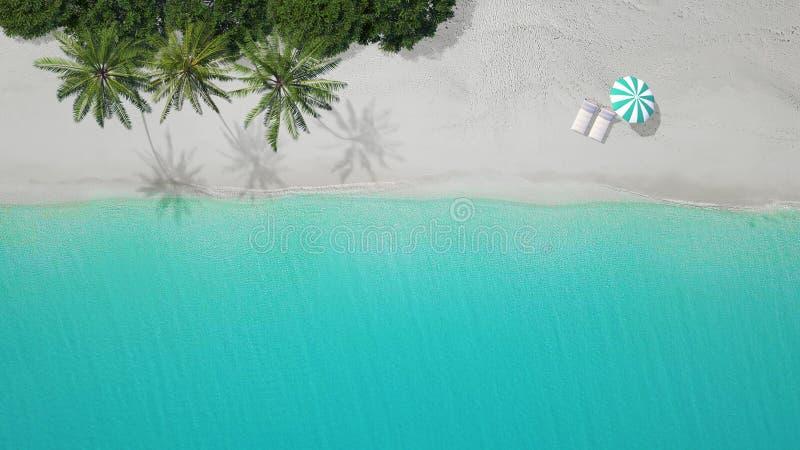 vista aerea 3D-Illustration della spiaggia sabbiosa exuma Bahamas illustrazione di stock