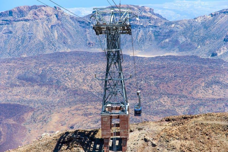 Vista aerea dal picco di Teide immagini stock libere da diritti