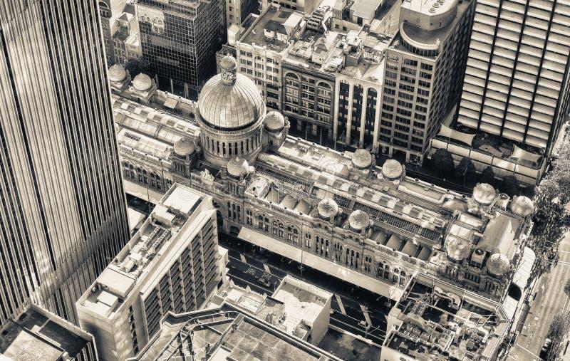 Vista aerea del centro commerciale famoso intorno a Sydney CBD immagine stock