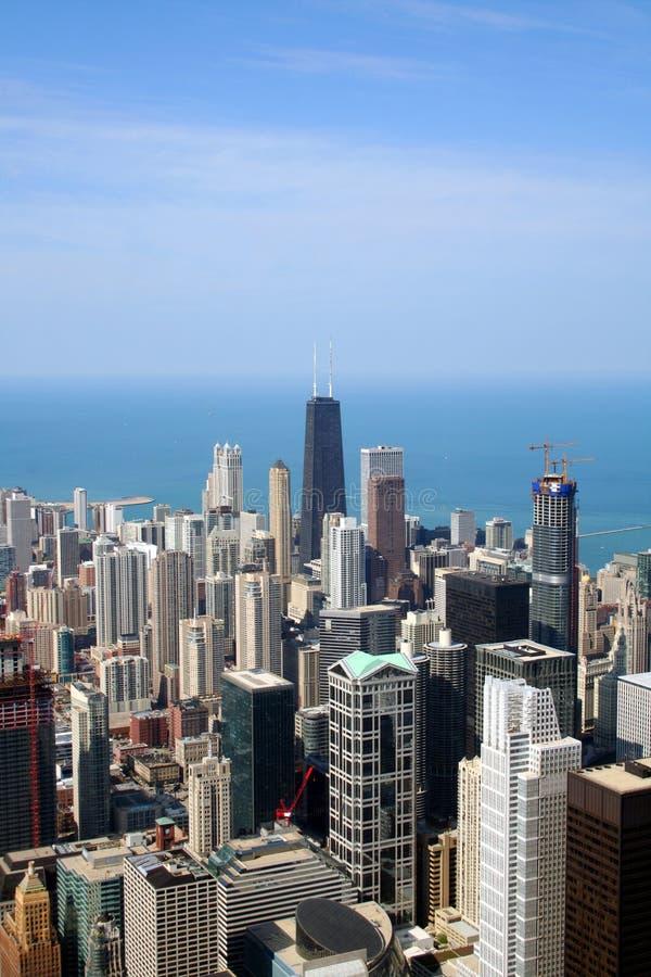 Vista aerea del Chicago   fotografia stock libera da diritti