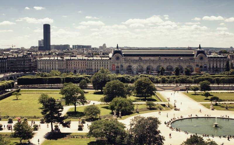 Vista aerea del DES Tuileries di Jardin fotografia stock