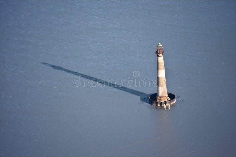 Vista aerea del faro fotografia stock libera da diritti