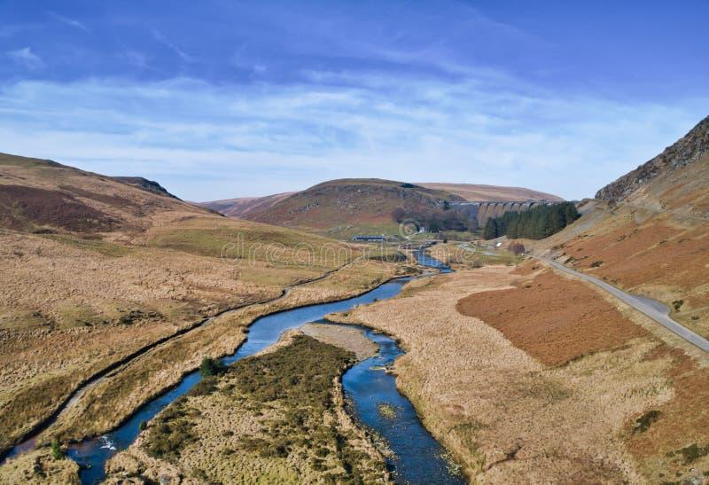 Vista aerea del fiume Clearwen fotografia stock libera da diritti
