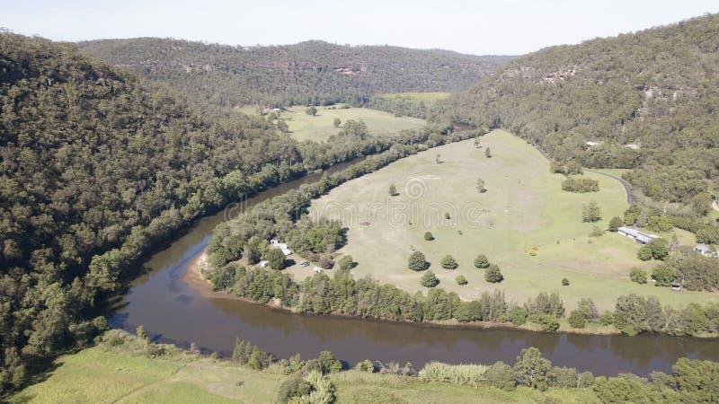 Vista aerea del fiume di Mcdonald fotografia stock libera da diritti