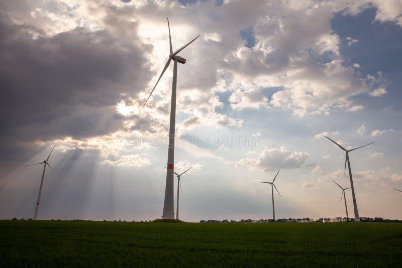 Vista aerea del fuco di zona industriale tedesca di energia di RWE immagine stock