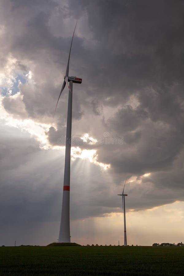 Vista aerea del fuco di zona industriale tedesca di energia di RWE immagini stock libere da diritti
