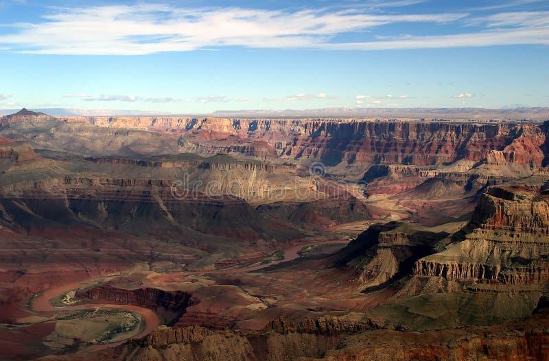 Vista aerea del grande canyon immagine stock libera da diritti