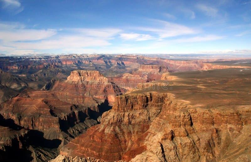 Vista aerea del grande canyon immagini stock libere da diritti