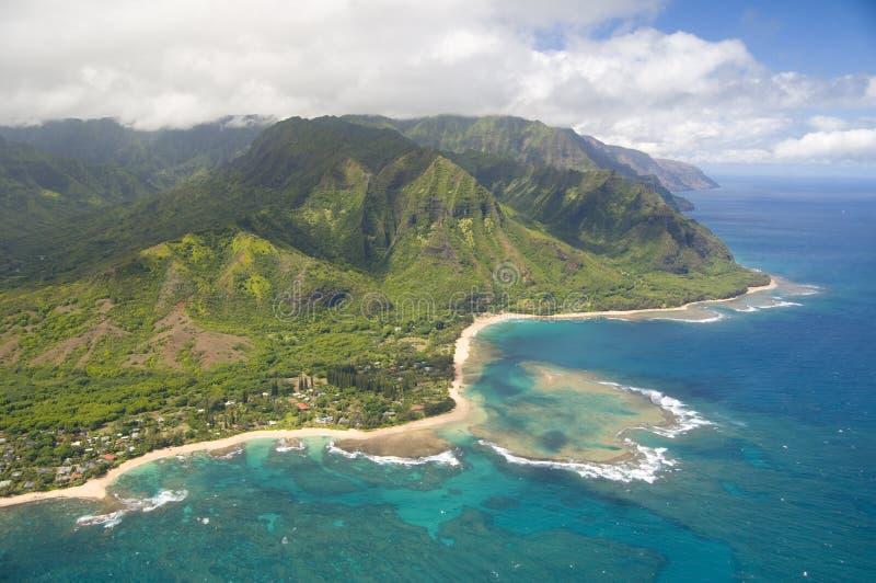 Vista aerea del Kauai immagine stock