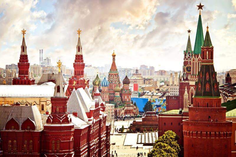 Vista aerea del Kremlin immagine stock libera da diritti