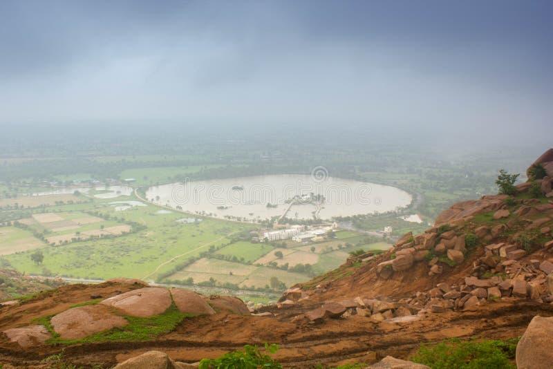 Vista aerea del lago fotografia stock libera da diritti