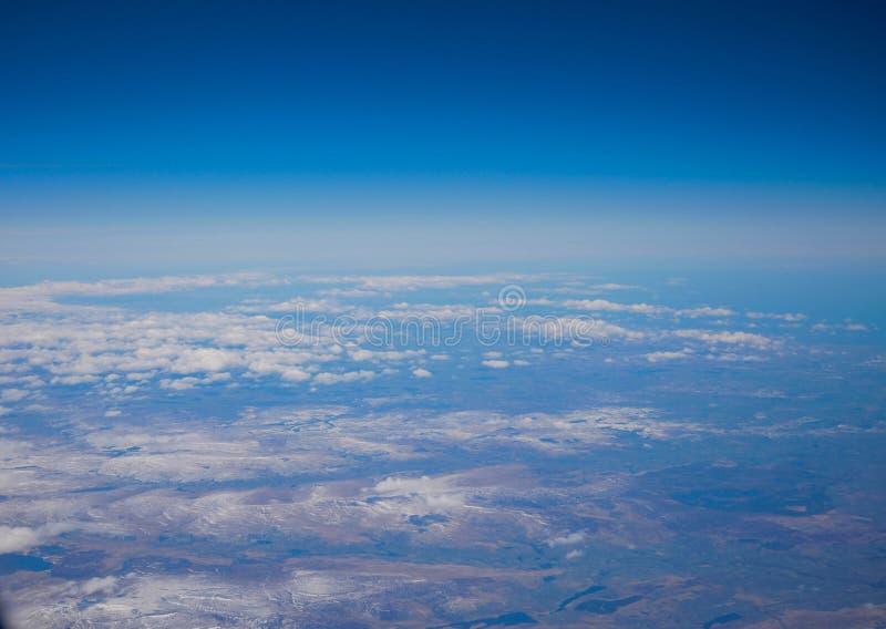Vista aerea del landsacpe ghiacciato della regione meridionale fotografia stock