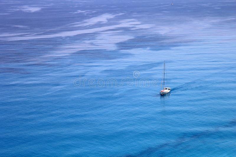 Vista aerea del Mar Ionio immagini stock