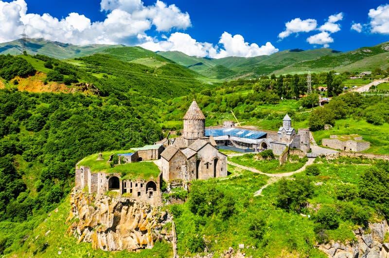 Vista aerea del monastero di Tatev in Armenia immagini stock libere da diritti