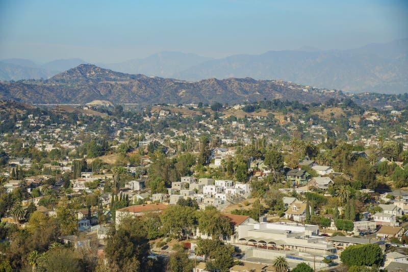 Vista aerea del paesaggio urbano di Highland Park fotografia stock libera da diritti