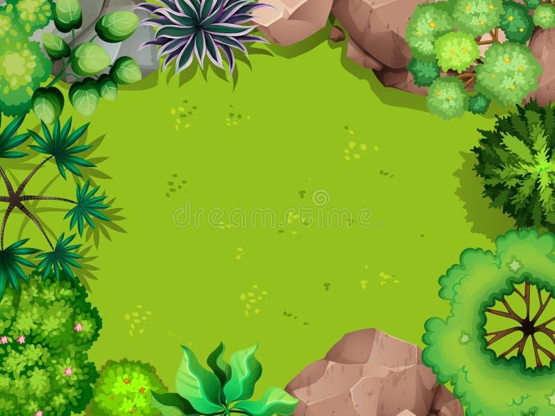 Vista aerea del parco illustrazione vettoriale