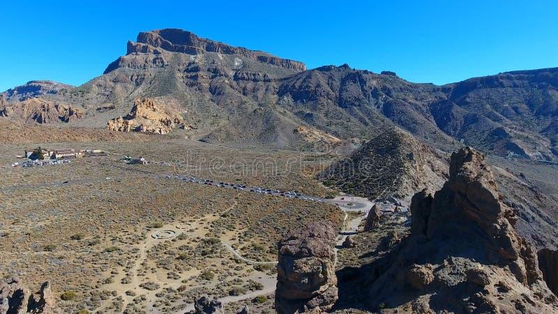 Vista aerea del parco nazionale di Teide in Tenerife, Spagna fotografia stock libera da diritti