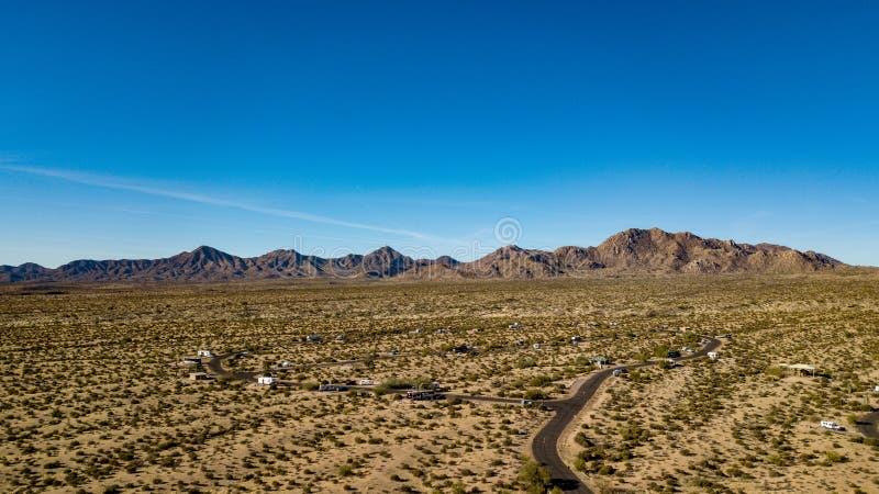 Vista aerea del parco regionale di McDowell vicino a Phoenix, Arizona immagini stock