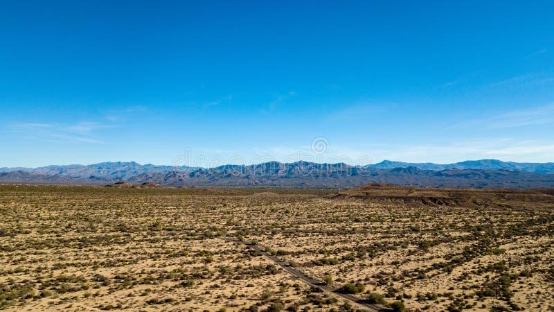 Vista aerea del parco regionale di McDowell vicino a Phoenix, Arizona fotografia stock