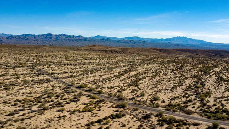 Vista aerea del parco regionale di McDowell vicino a Phoenix, Arizona fotografie stock